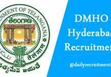 DMHO Hyderabad Recruitment 2019