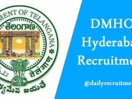 DMHO Hyderabad Recruitment 2019