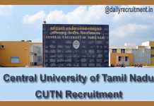 CUTN Recruitment 2018