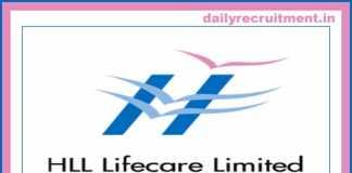 HLL Lifecare Recruitment 2019