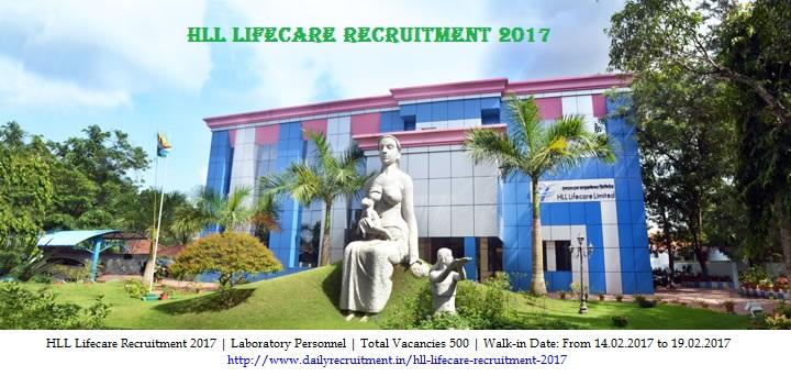 HLL Lifecare Recruitment 2017