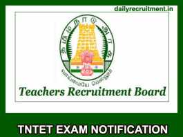 TNTET Exam Notification 2019