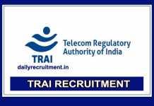 TRAI Recruitment 2019