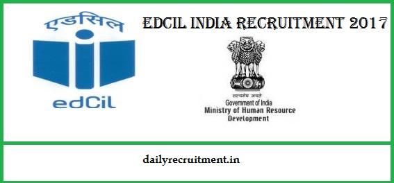 EdCIL Recruitment 2017