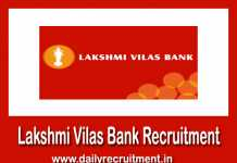 Lakshmi Vilas Bank Recruitment 2019