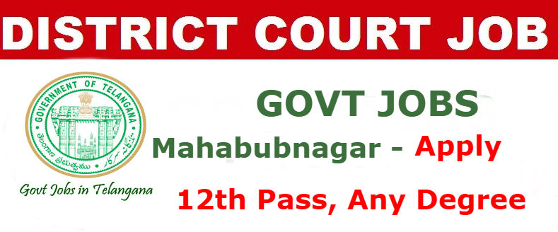 Mahabubnagar District Court Recruitment 2017