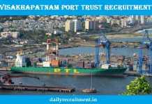 Visakhapatnam Port Trust Recruitment 2018