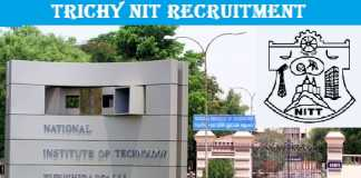 NIT Trichy Recruitment 2019