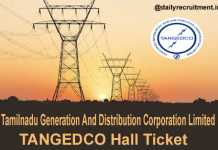 TANGEDCO Hall Ticket 2019