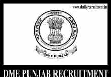 DME Punjab Recruitment 2019