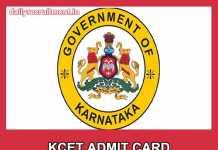 KCET Admit Card 2019