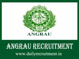 ANGRAU Recruitment 2019