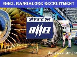 BHEL Bangalore Recruitment 2018