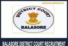 Balasore District Court Recruitment 2018