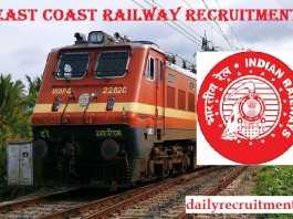 East Coast Railway Recruitment 2019