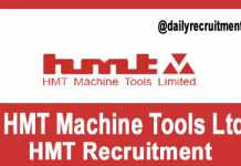 HMT Recruitment 2019