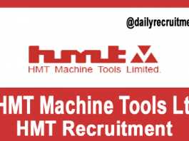 HMT Recruitment 2018