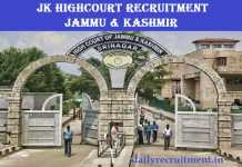 JK High Court Recruitment 2019