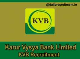 KVB Recruitment 2018