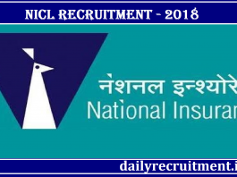 NICL Recruitment 2018