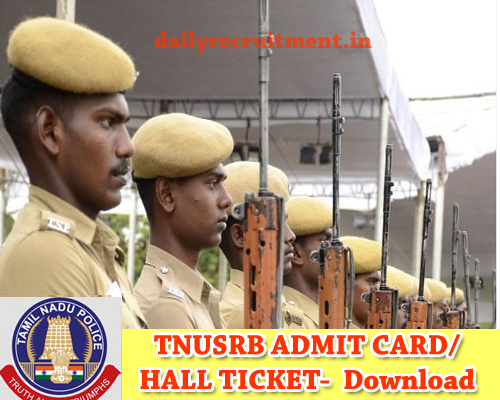 TN Police Hall Ticket 2019
