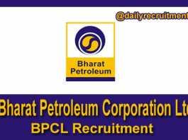 BPCL Recruitment 2018