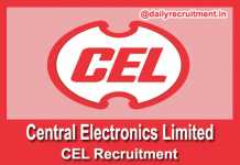 CEL Recruitment 2019