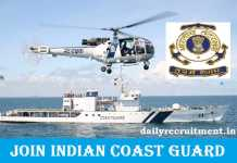 Join Indian Coast Guard Recruitment 2018