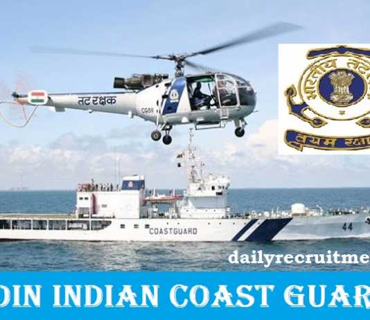 Join Indian Coast Guard Recruitment 2018