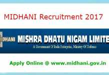 MIDHANI Recruitment 2017