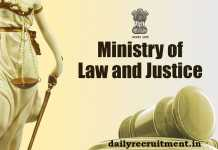 Ministry of Law and Justice Recruitment 2019