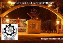 NIT Rourkela Recruitment 2017