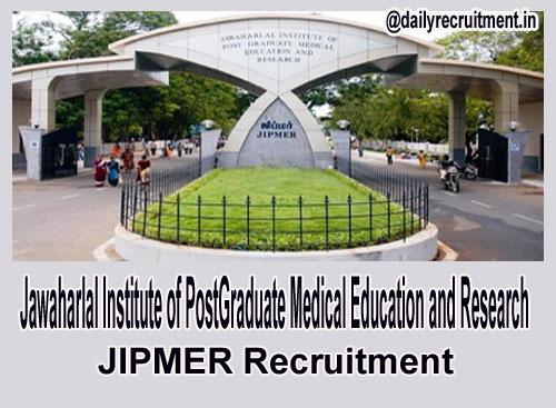 JIPMER Jobs 2019, 43 Faculty Vacancies, Apply @ jipmer edu in