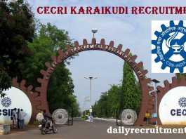 CECRI Karaikudi Recruitment 2019