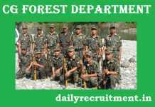 CG Forest Recruitment 2019