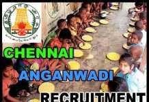 ICDS Chennai Anganwadi Recruitment 2018