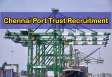 Chennai Port Trust Recruitment 2019