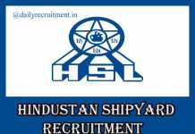 Hindustan Shipyard Recruitment 2020