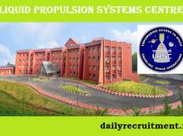 ISRO LPSC Recruitment 2019