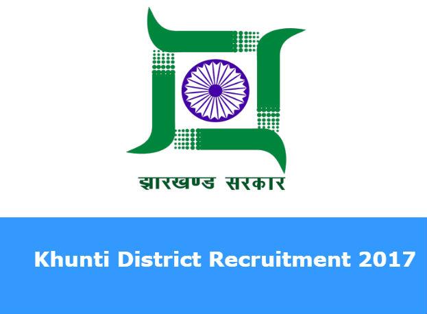 Khunti District Recruitment 2017