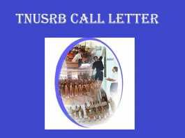 TNUSRB Call Letter 2018