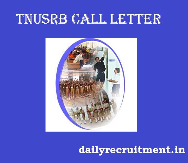 TNUSRB Call Letter 2019