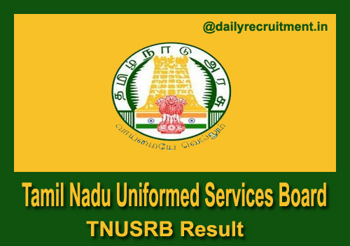 TNUSRB SI Result 2020