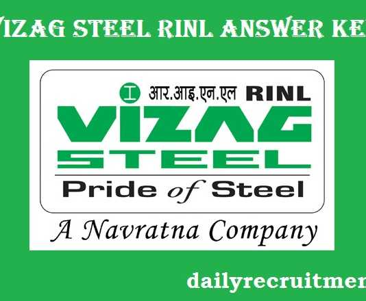 VIZAG Steel Plant RINL Answer Key 2017