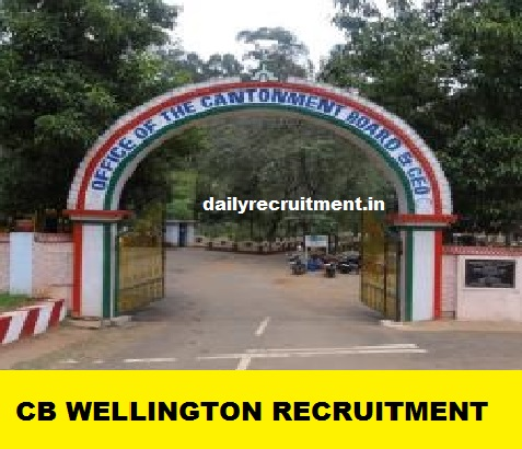 Wellington-Cantonment-Board Online Form Govt Job Haryana on