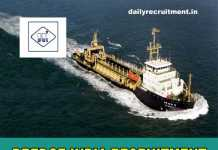 Dredge India Recruitment 2018