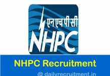 NHPC Recruitment 2019