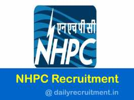 NHPC Recruitment 2019