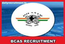 BCAS Recruitment 2019