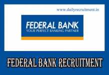 Federal Bank Recruitment 2019